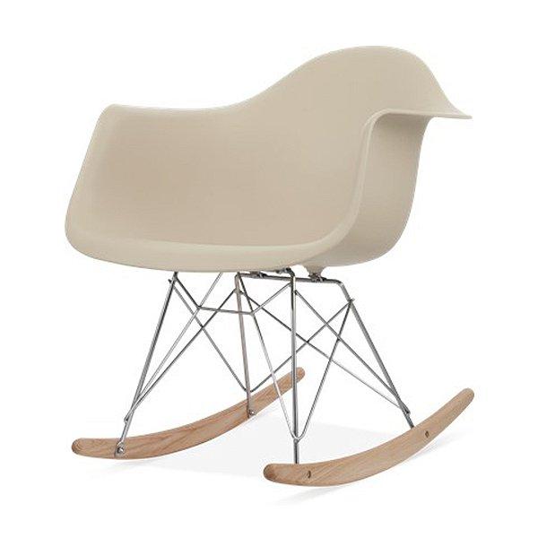 Cadeira Balanço Fratini Design Eames Eiffel DAR Ray Salas Florida Fendi Braços Polipropileno