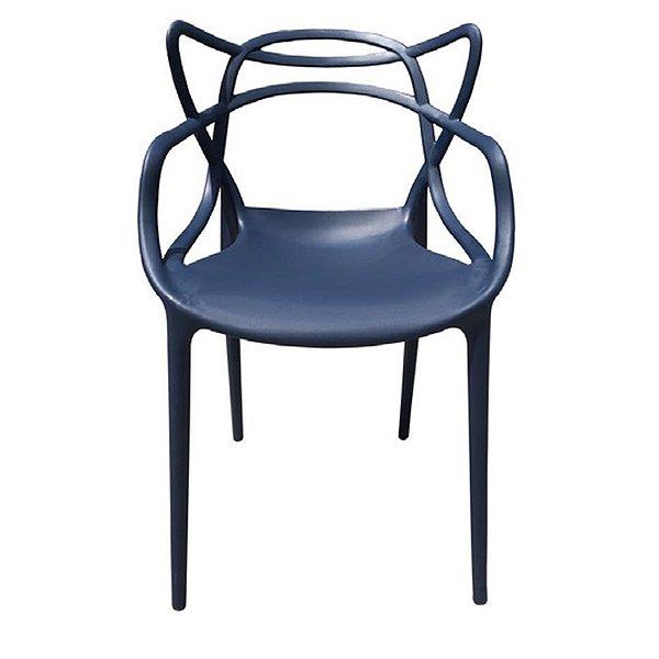 Cadeira Design Fratini Alegra Master Philippe Starck Azul Marinho Polipropileno Cozinhas Aviv