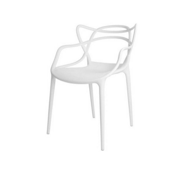 Cadeira Design Fratini Alegra Master Philippe Starck Branca Polipropileno Cozinhas Aviv