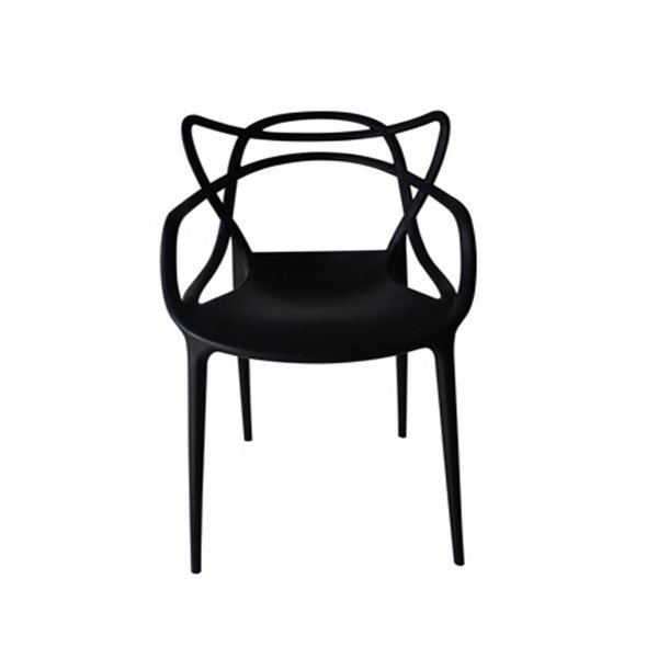 Cadeira Design Fratini Alegra Master Philippe Starck Preta Polipropileno Cozinhas Aviv