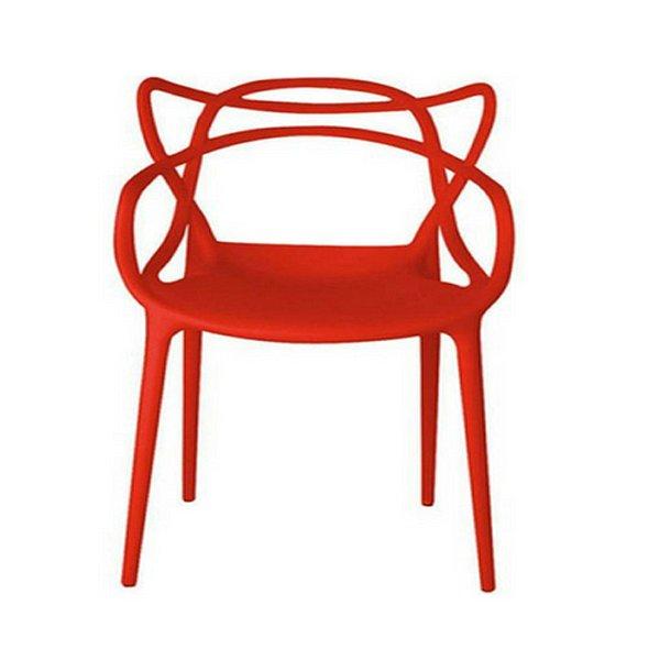 Cadeira Design Fratini Alegra Master Philippe Starck Vermelha Polipropileno Cozinhas Aviv