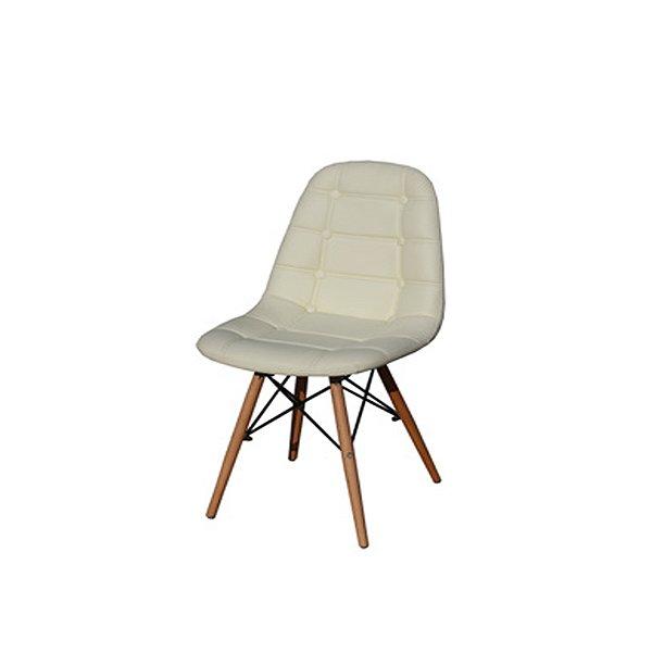 Cadeira Design Botone Eames Eiffel DAR Ray Pes Madeira Salas Madrid Bege Fratini