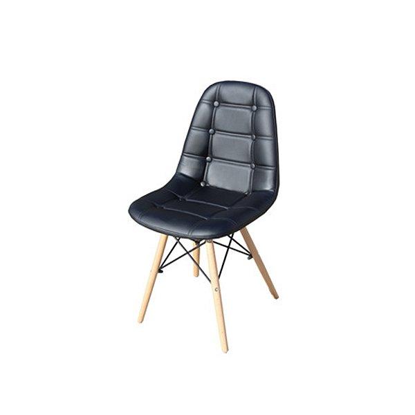 Cadeira Design Fratini Botone Eames Eiffel DAR Ray Pes Madeira Natural Salas Madrid Preto