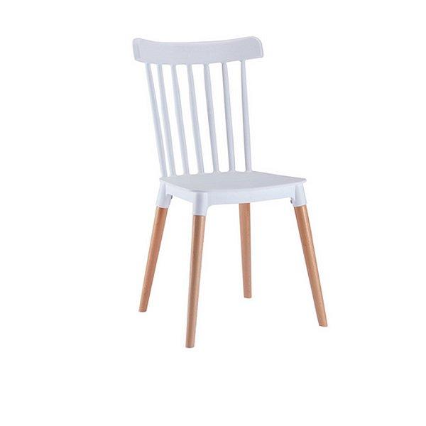 Cadeira Design Fratini Classica Windsor Madeira Natural Restaurantes Salas Gourmet Roma Branco