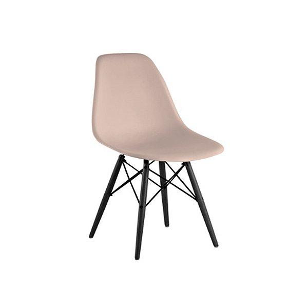Cadeira Design Fratini Eames Eiffel DAR Ray Pes Madeira Natural Salas Florida Fendi Assento Polipropileno