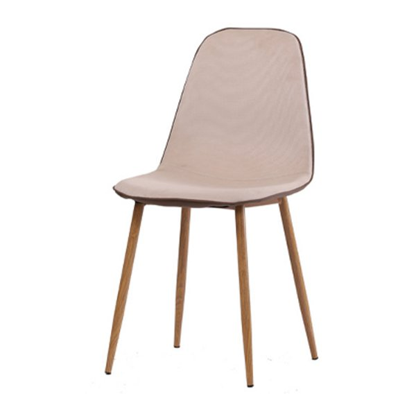 Cadeira Design Fratini Eames Eiffel DAR Ray Pes Madeira Natural Salas Lyon Bege Marrom Assento Polipropileno