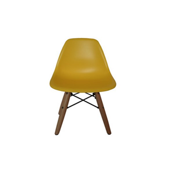 Cadeira Design Fratini Eames Eiffel Kids Infantil Amarelo DAR Ray Pes Madeira Natural Florida Assento Polipropileno
