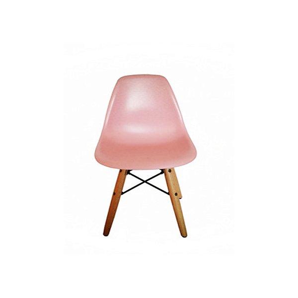 Cadeira Design Fratini Eames Eiffel Kids Infantil Rosa DAR Ray Pes Madeira Natural Florida Assento Polipropileno