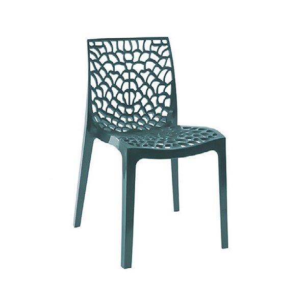 Cadeira Design Fratini Gruvier Azul Petroleo Ambiente Externo e Interna Cozinhas Salas Restaurantes
