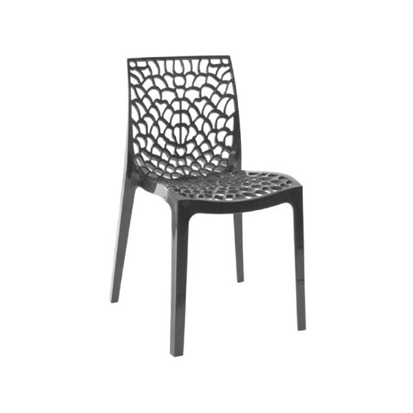 Cadeira Design Fratini Gruvier Preto Ambiente Externo e Interna Cozinhas Salas Restaurantes