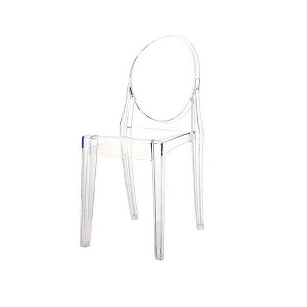 Cadeira Design Fratini Louis Ghost Transparente Incolor Moderna Cozinhas Salas Jantar Viena