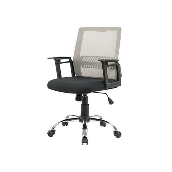 Cadeira Escritorio Fratini Office Rodizio Atlanta Cinza Giratoria Diretor Com Braços