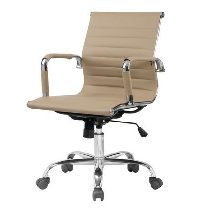 Cadeira Escritorio Fratini Office Rodizio Manhattan Eames Fendi Cromado Giratoria Diretor Com Braços