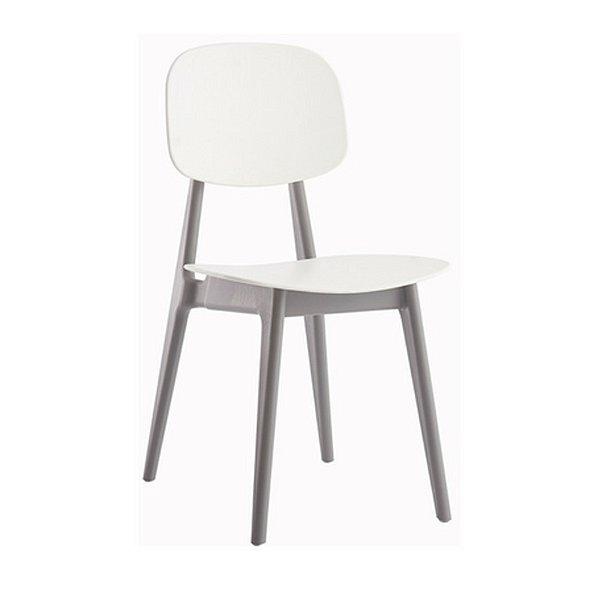 Cadeira Resistente Fratini Branco Cinza Cozinhas Restaurantes Gourmet Varanda Bares Vegas