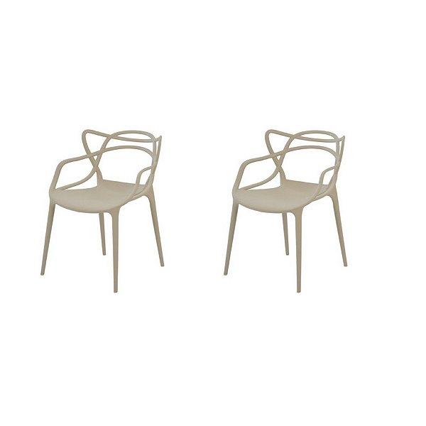 Kit 2x Cadeira Design Alegra Master Philippe Starck Fendi Polipropileno Cozinhas Aviv Fratini