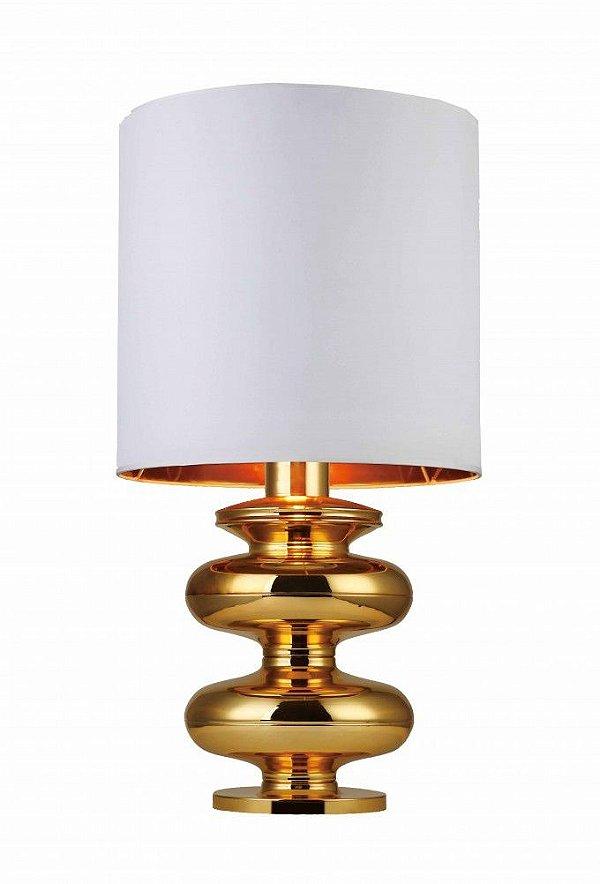 Abajur Mantra Co Aesir Alumínio Dourado Moderno Cupula 83x40cm 1 E27 30182 Sala Quarto Casal Mesas