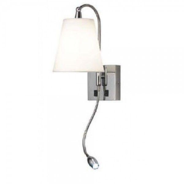 Arandela Mantra Co Blanch Alumínio Cúpula Branca 61x27cm 1 E27 30119 Parede Muro Banheiro Sala