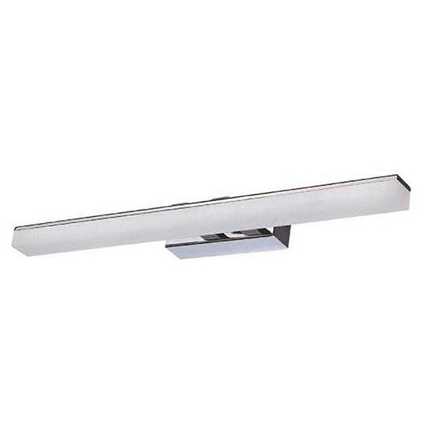 Arandela Mantra Co LED Lighting Acrílico Alumínio Branca 5x46cm LED 5W 30067 Parede Muro Banheiro Sala