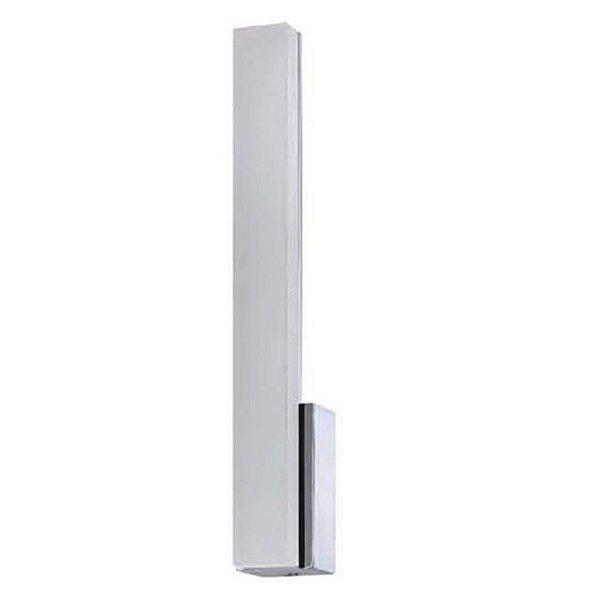Arandela Mantra Co LED Lighting Acrílico Alumínio Branca Linear 32x5cm LED 5W 30068 Parede Muro Banheiro Sala