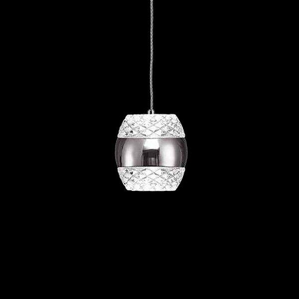 Pendente Mantra Co Khalifa Pendurado LED Redondo Cristal K9 14x14cm Placa LED 6W 110v 220v Bivolt 5167 Cozinhas Sala de Jantar Quarto e Cozinha
