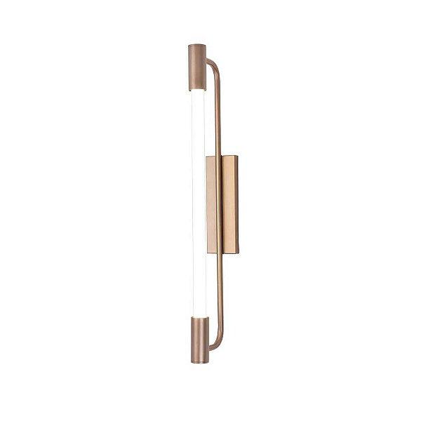 Arandela Munclair Opus 2371 Longa Moderna Metal 2x G13 66x14cmx7cm Quartos Salas e Banheiros