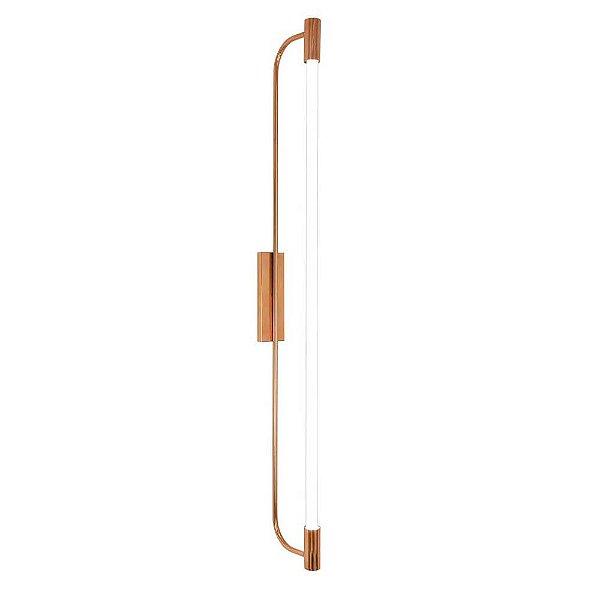 Arandela Munclair Opus 2372 Longa Moderna Metal 2x G13 125x17cmx7cm Quartos Salas e Banheiros