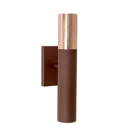 Arandela Munclair Rudá Tubo Metal Pintado Polido 110v 220v Bivolt 7x28 GU10 LED 2350 Quartos Salas e Banheiros