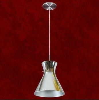 Pendente Cônico Alumínio Cromado Espelhado 29cm Áurea Mr Iluminação E-27 2107-1-esp Cozinhas e Quartos