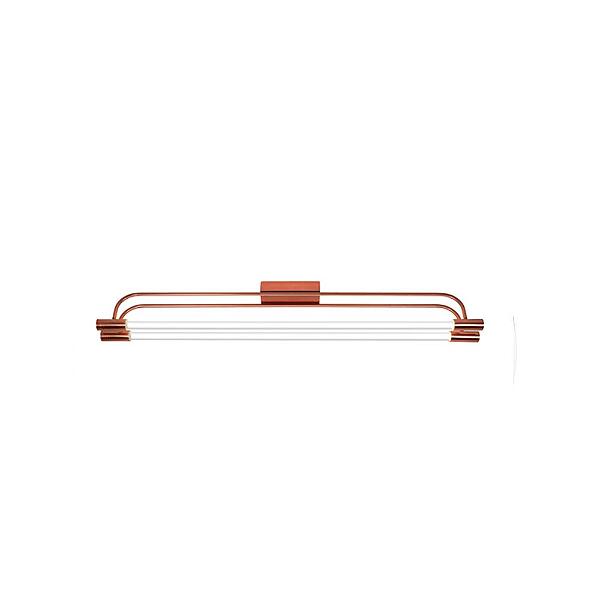 Plafon Munclair Retangular Opus 110v 220v Bivolt Hastes Curvos 1,25m Tubo Fluorescente 3384-2 Sala Quarto e Cozinha