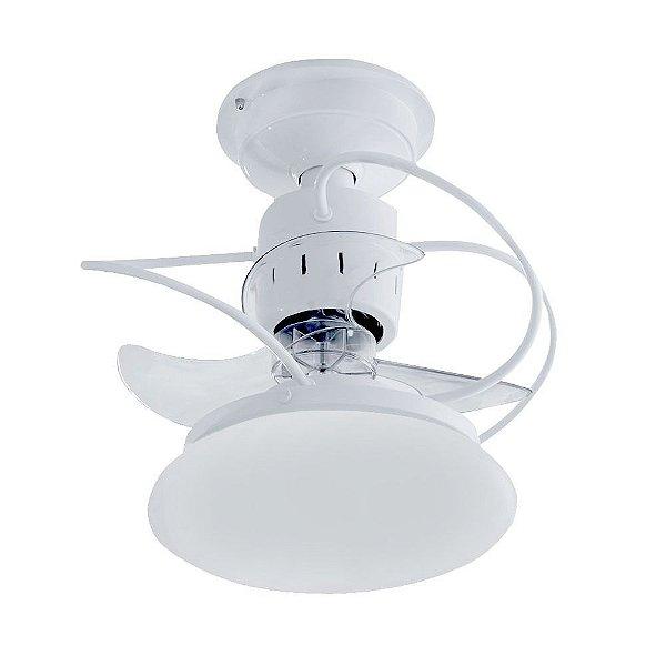 Ventilador Treviso Ind Lustre Atenas Branco com Luminaria Led 18w Quarto Sala Cozinha Loja  TRV20
