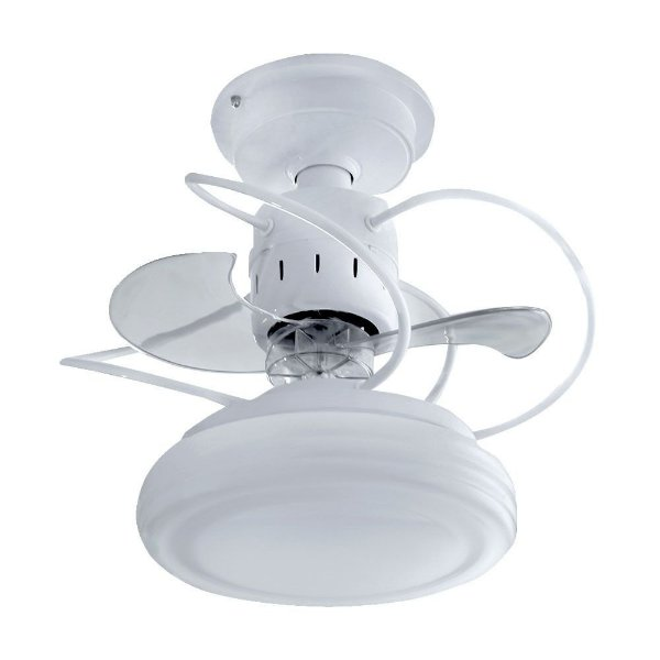 Ventilador Treviso Ind Lustre Bali Branco Controle Remoto Led Sala Quarto Cozinha Loja 18w  TRV38