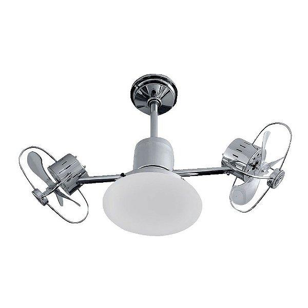 Ventilador Treviso Ind Lustre Infinit Plus Cromado com Luminaria Quarto Infantil Sala Cozinha  TRV49