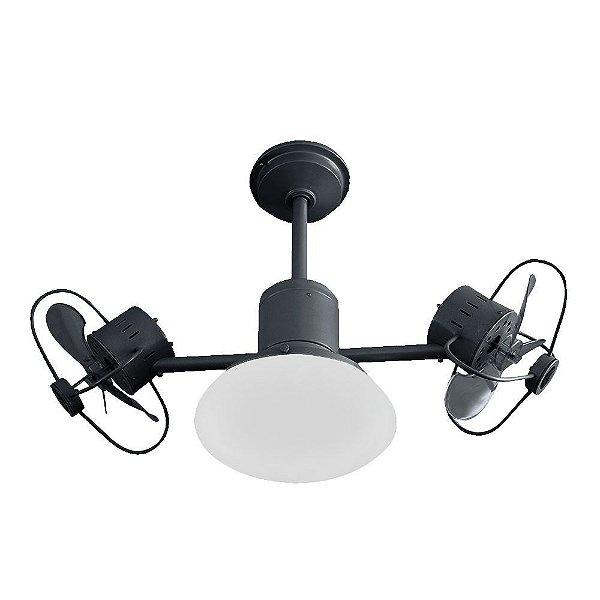Ventilador Treviso Ind Lustre Infinit Plus Preto com Luminaria Quarto Infantil Sala Cozinha Loja  TRV48