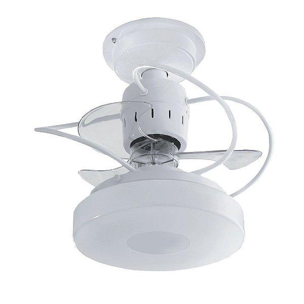 Ventilador Treviso Ind Mônaco Branco Controle Remoto Led Sala Quarto Cozinha Escritórios Loja 18w  TRV13