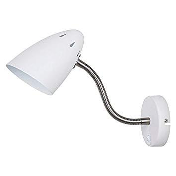 Arandela Quality Iluminação QAR1177-BR Articulada Cupula  Alumínio BRANCO 1XE27 40W 37X10,8X19,5CM Paredes Muros Banheiros Salas Quartos