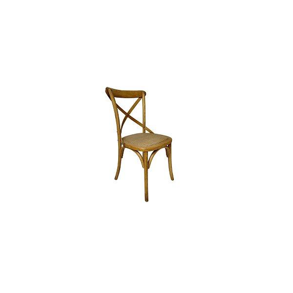 Cadeira Trendhouse Madeira Natural Bétula Cor Castanho Claro Assento Palha Trançada