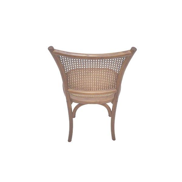 Cadeira Trendhouse Madeira Natural Carvalho Americano Castanho Claro Assento Encosto Palha Natural