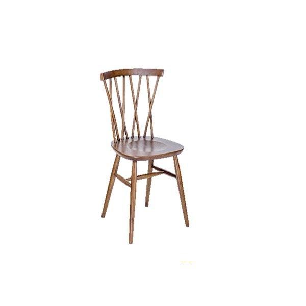 Cadeira Trendhouse Madeira Natural Carvalho Americano Castanho Escuro Encosto Sarrafo Cruzado Serena