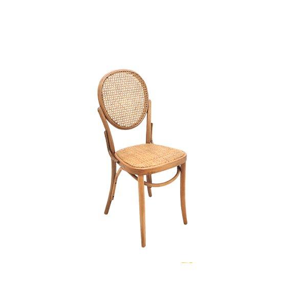 Cadeira Trendhouse Madeira Natural Vergada Castanho Claro Encosto Oval Assento Palha Trançada Panama