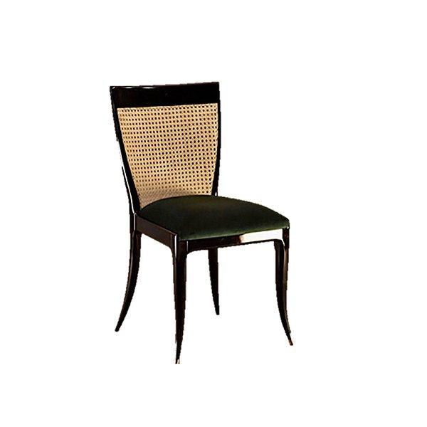 Cadeira Trendhouse Moderna Madeira Natural Jequitibá Pes Ponta Preto Perolado Encosto Palha Natural Glam