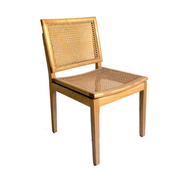 Kit 2x Cadeira Trendhouse Jantar Madeira Natural Carvalho Claro Assento Encosto Palha Natural