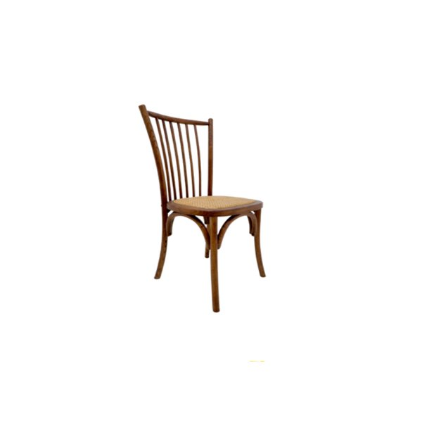 Kit 2x Cadeira Trendhouse Madeira Natural Carvalho Americano Escuro Assento Palha Trançada Ranch