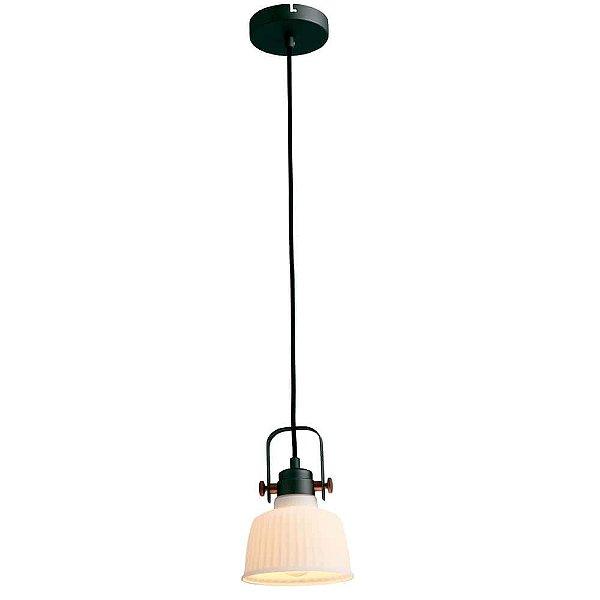PENDENTE Newline Imports PD1073-CZ Vertical Industrial Cupula VIDRO 1XE27 40W 22,5X1,60CM Sala de Jantar Quarto e Cozinha