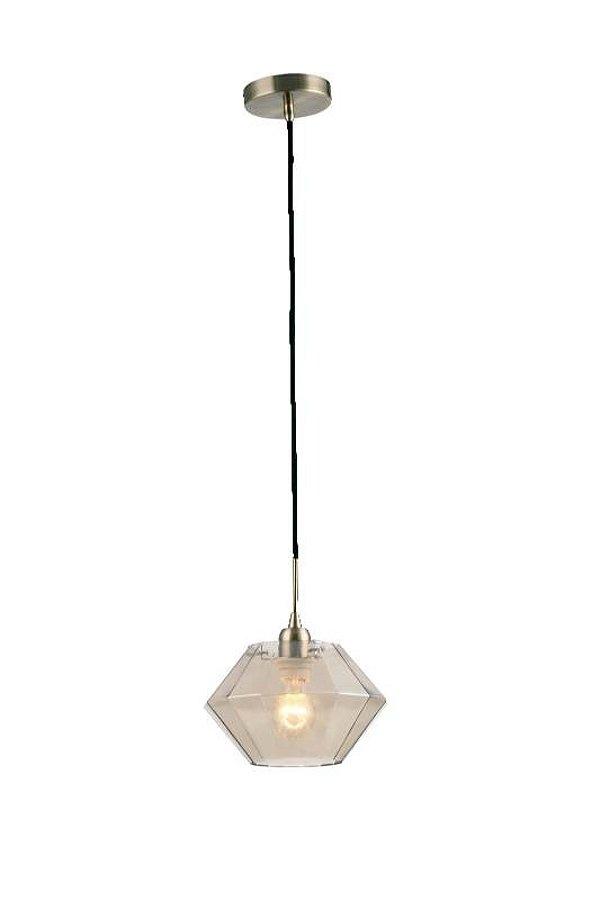 PENDENTE Newline Imports PD1075-CH Vertical Diamante Champanhe VIDRO 1XG9 W 18X11CM Sala de Jantar Quarto e Cozinha