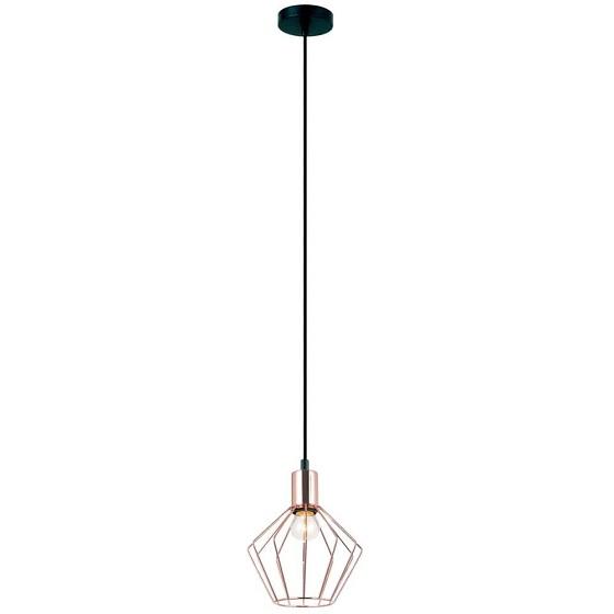 PENDENTE Newline Imports PD1119-CO Estilo Antigo Aramado Filamento Vertical COBRE  1XE27 40W Ø18X22,5CM Sala de Jantar Quarto e Cozinha