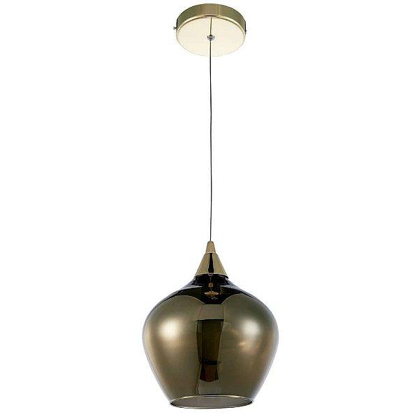 PENDENTE Newline Imports PD1146 Vertical Estilo Antigo Cupula VIDRO LED 3W 3000K 20X23CM Sala de Jantar Quarto e Cozinha