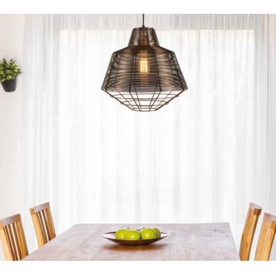 PENDENTE Newline Imports PD1218 Aramado Filamento Estilo Antigo Metal Alumínio 1XE27 40W 50X47CM Sala de Jantar Quarto e Cozinha