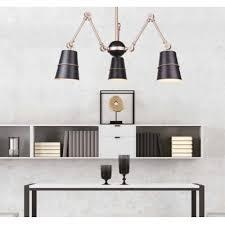 PENDENTE Newline Imports PD1241 Aranha Moderno Cupula Alumínio 3XE27 40W 120X43CM Sala de Jantar Quarto e Cozinha