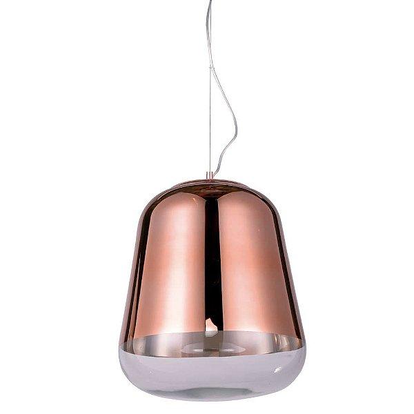 PENDENTE Newline Imports PD662 Vertical Cobre Alumínio E VIDRO 45X51CM 1XE27 40W Sala de Jantar Quarto e Cozinha
