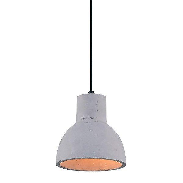 PENDENTE Newline Imports PD709 Vertical Alumínio CONCRETO 1XE27 40W Ø16X18CM Sala de Jantar Quarto e Cozinha